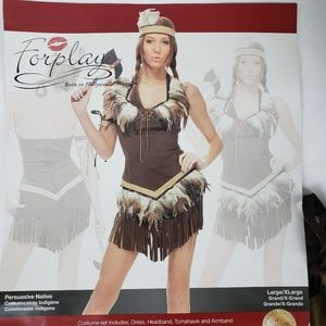 American Indian Women's L XL Halloween Costume
